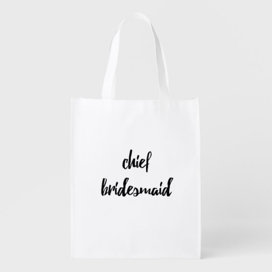 Chief Bridesmaid Bridal Reusable Bag - Wedding