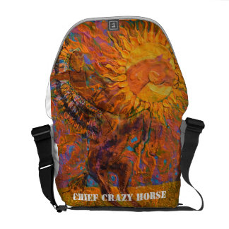 Chief Crazy Horse - Indian Backpack Messenger Bags