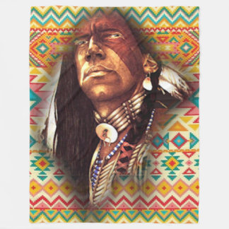 Chief Eagle Eyes Fleece Blanket