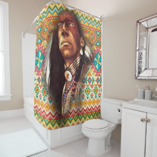 Chief Eagle Eyes Shower Curtain
