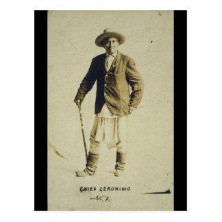 Chief Geronimo Standing Portrait 1904 Postcard