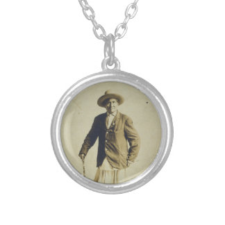 Chief Geronimo Standing Portrait 1904 Round Pendant Necklace