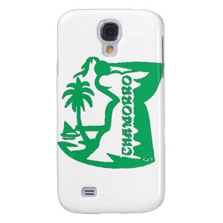 Chief holding a latte stone.  Guam seal. Galaxy S4 Case