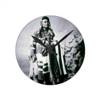 Chief Joseph (1840-1904) c.1880 (b/w photo) Round Clock