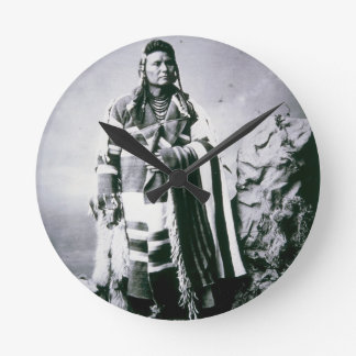 Chief Joseph (1840-1904) c.1880 (b/w photo) Wallclock