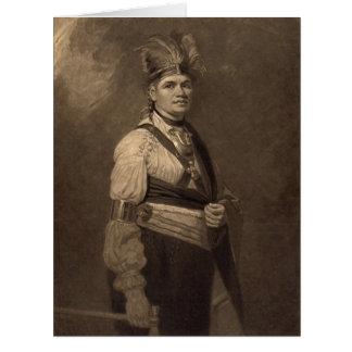 Chief Joseph Fayadaneega 1776 Big Greeting Card