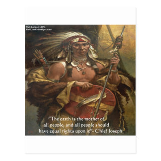 Chief Joseph & Nature Quote Gifts Tees & Cards Postcard