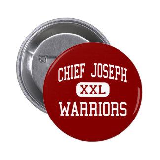 Chief Joseph - Warriors - Middle - Bozeman Montana 6 Cm Round Badge