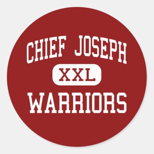 Chief Joseph - Warriors - Middle - Bozeman Montana Round Sticker