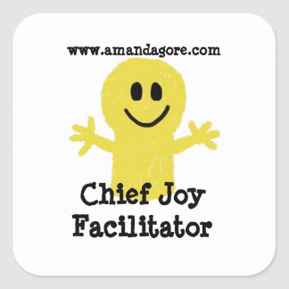 Chief Joy Facilitator Square Stickers