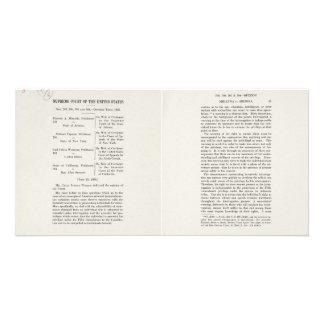Chief Justice Earl Warren Miranda v Arizona Case Photo Cards