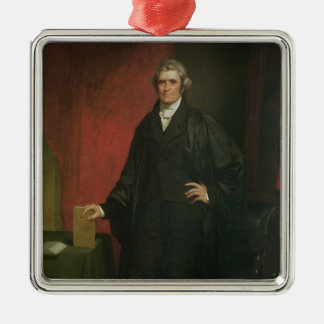 Chief Justice Marshall Silver-Colored Square Decoration