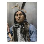 Chief Left Hand Bear Chief 1898 Vintage Postcard