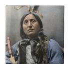 Chief Left Hand Bear Ogala Sioux Vintage Tile