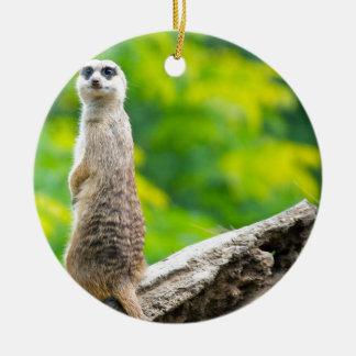 Chief meerkat christmas ornament