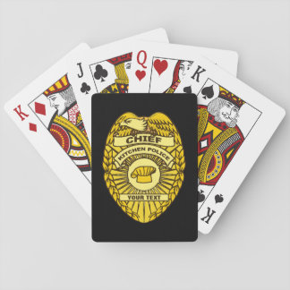 Chief Of Kitchen Police Badge Deck Of Cards
