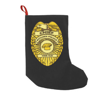 Chief Of Kitchen Police Badge Small Christmas Stocking