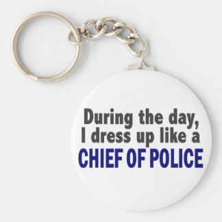 Chief Of Police During The Day Key Ring