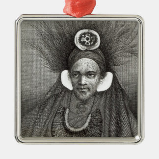 Chief of St.Christina, illustration from Silver-Colored Square Decoration