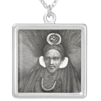 Chief of St.Christina, illustration from Silver Plated Necklace