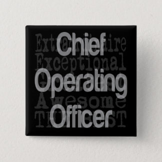 Chief Operating Officer Extraordinaire 15 Cm Square Badge