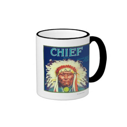 Chief Orange LabelRedlands, CA Coffee Mug