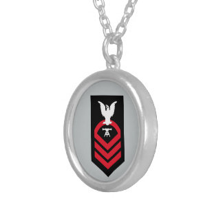 Chief Petty Officer - Fire Controlman Round Pendant Necklace