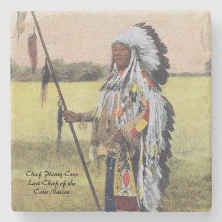 Chief Plenty Coos Stone Coaster