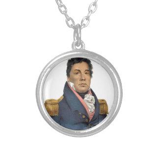 Chief Pushmataha Round Pendant Necklace