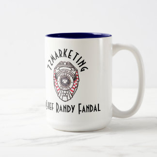 Chief Randy Fandal 72marketing two tone coffee CUP