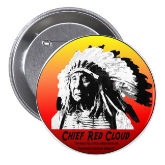 Chief Red Cloud 7.5 Cm Round Badge