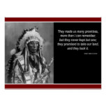 "Chief Red Cloud ""Only kept one promise"" Poster"