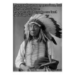 Chief Red Cloud Quote Poster