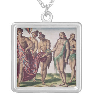 Chief Satouriona and his Wife go for a Walk Silver Plated Necklace