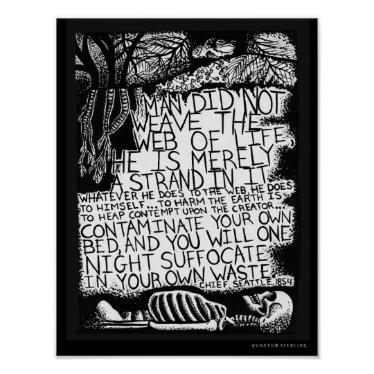 Chief Seattle Quote Poster - Web of Life
