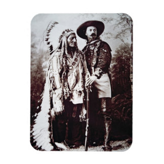 Chief Sitting Bull (1831-90) on tour with Buffalo Flexible Magnet