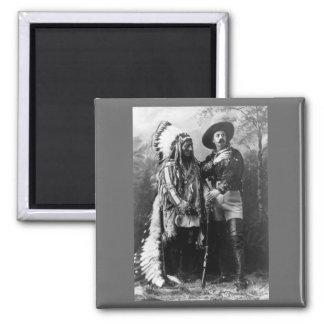 Chief Sitting Bull and Buffalo Bill 1895 Fridge Magnet