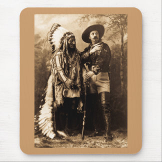 Chief Sitting Bull and Buffalo Bill 1895 Mouse Mat