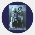 Chief Sitting Bull and Buffalo Bill 1895 Round Sticker