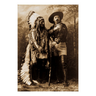 Chief Sitting Bull and Buffalo Bill Poster