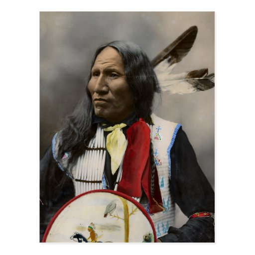 Chief Strikes With Nose, Oglala Sioux  1899 Post Cards