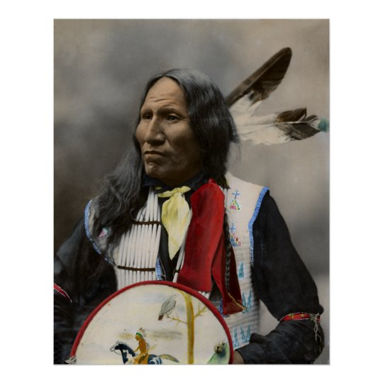 Chief Strikes With Nose, Oglala Sioux 1899 Poster