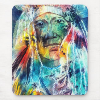 Chief Two Moons I Mouse Mat