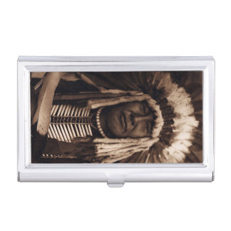 Chief Yellow Owl Vintage Blackfoot Edward Curtis Business Card Cases