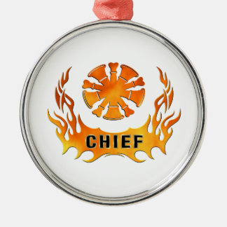 Chief's Flames Christmas Ornament