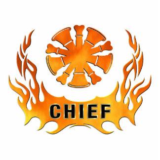 Chief's Flames Photo Sculpture Decoration