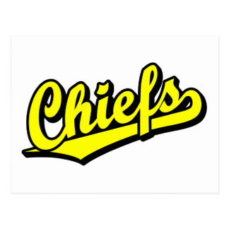 Chiefs in Yellow Post Cards