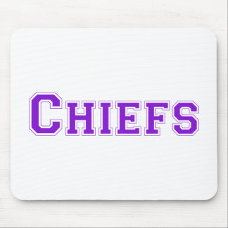 Chiefs square logo in purple mouse pad
