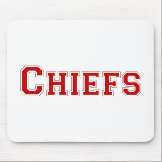Chiefs square logo in red mouse pad