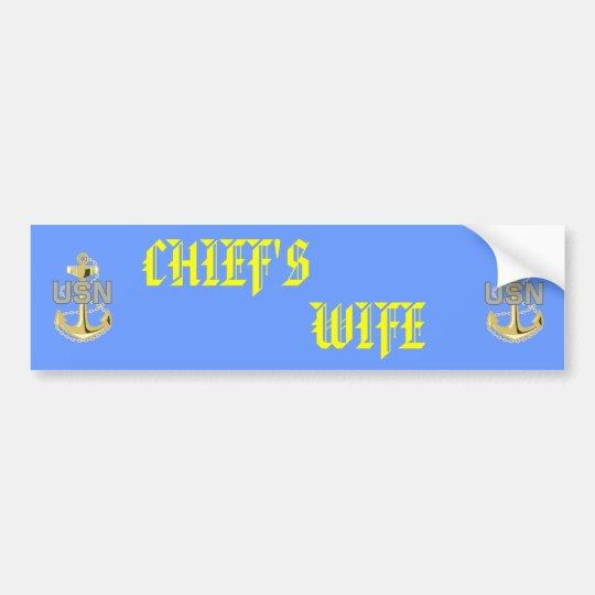 Chief's Wife Sticker